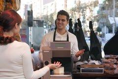 Shop von jamon und von Käse Lizenzfreies Stockfoto