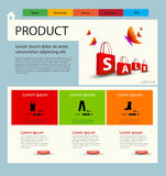 Shop website template Stock Photography