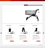 Shop website template Stock Photo