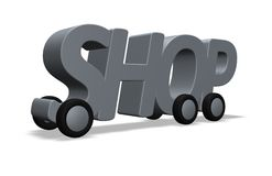 Shop on wheels Stock Photography