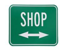 Shop - on white background Stock Photo