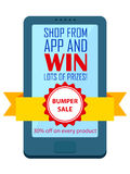 Shop and Win concept Royalty Free Stock Photo