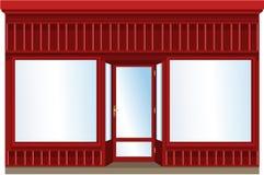 Shop window. Empty shop window with blank board royalty free illustration