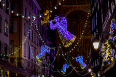 Free Shop-window And Street Decoration Of Strasbourg Before Christmas Royalty Free Stock Images - 64526659