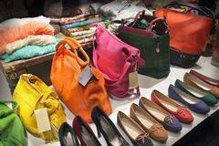 Bags and shoes Royalty Free Stock Photography