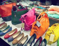 Bags and shoes Royalty Free Stock Photos