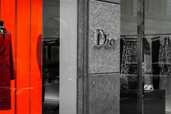 Shop window of a Dior shop in Milan Royalty Free Stock Photo
