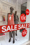Shop window display Royalty Free Stock Photo