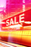 Shop Window With Sale Sign Stock Photo