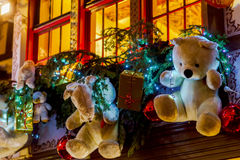 Shop-window and street decoration of Strasbourg before Christmas Stock Image
