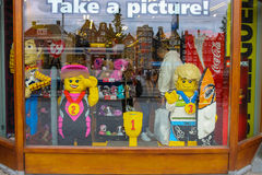 Shop window of toys in Amsterdam. Netherlands Stock Images