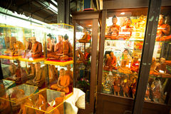 Shop windows with mannequins monks at Chatuchak Weekend Market Stock Image