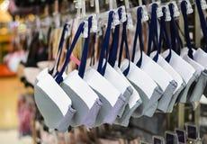 Shop woman underwear clothes Stock Photos