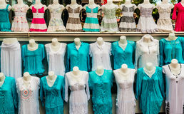 Shop of women clothing Royalty Free Stock Image
