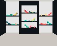 Shop women shoes Stock Photo