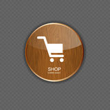 Shop wood application icons Royalty Free Stock Photo