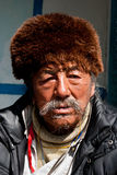 A local old man from Sikkim Royalty Free Stock Photography