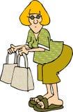 Shopaholic vector illustratie