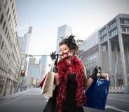 Shopaholic royalty free stock photos