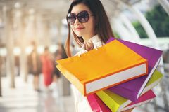 Shopaholic en levensstijl stock foto's