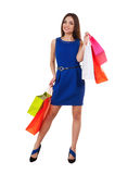 Shopaholic girl. Royalty Free Stock Image