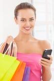 Shopaholic girl. Royalty Free Stock Photography