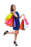 Shopaholic girl. Royalty Free Stock Photo