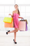 Shopaholic girl. Stock Photography