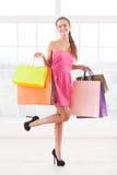 Shopaholic girl. Stock Photography
