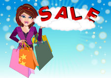 Shopaholic Girl Royalty Free Stock Images
