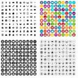 100 shopaholic icons set vector variant. 100 shopaholic icons set vector in 4 variant for any web design isolated on white Stock Photography