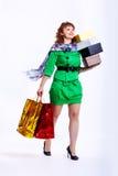 shopaholic kobieta Zdjęcia Stock