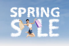 Shopaholic make spring sale sign Stock Photography