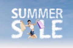 Shopaholic make summer sale sign Stock Image