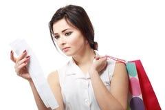 Shopaholic overspending Stock Image