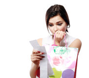 Shopaholic overspending Royalty Free Stock Images