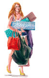 Shopaholic Royalty Free Stock Photo