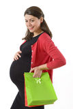 Shopaholic Pregnant Woman Royalty Free Stock Photo