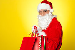 Shopaholic Santa is coming to you this Christmas Stock Photos