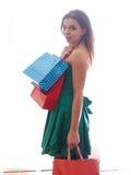Shopaholic shopping woman Stock Image