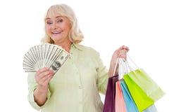 Shopaholic supérieur Images libres de droits