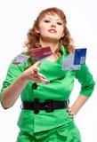 Shopaholic woman Royalty Free Stock Photography