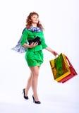 Shopaholic woman Stock Photo