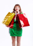 Shopaholic woman Stock Photo
