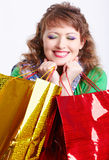 Shopaholic woman Royalty Free Stock Photos