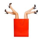 Shopaholic Women Stock Photo