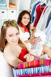 Shopaholics Royalty Free Stock Images