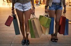 shopaholics Stock Afbeelding