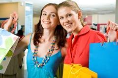 Shopaholics heureux Photographie stock
