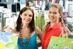 Shopaholics heureux Image libre de droits